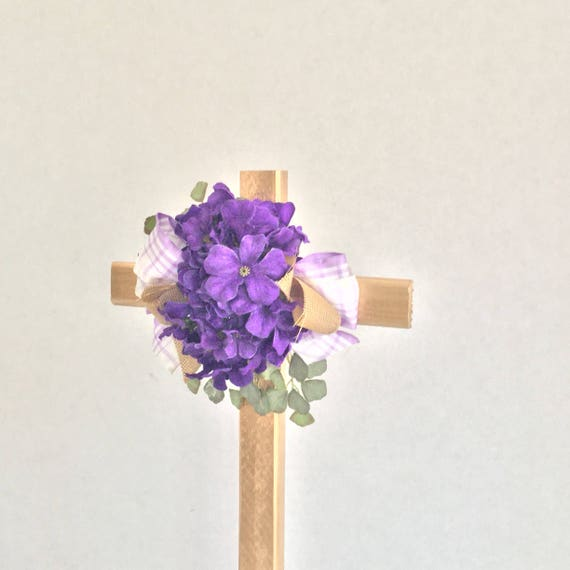 Cemetery flowers, grave memorial stake, memorial cross, flowered cross, Floralmemorials,
