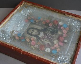 Antique russian icon - Byzantine icon - Orthodox russian catholic - Christian Icon.