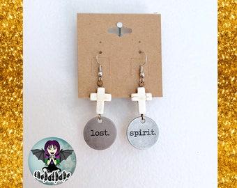 Lost Spirit Cross Earrings