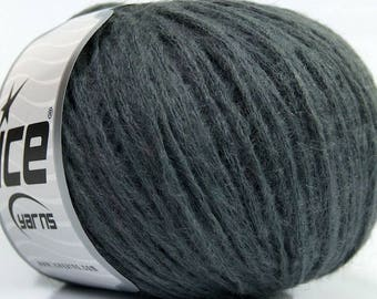 Mohair Blend Knitting Yarn Crochet Yarn Knit Grey Gray Lot 38438
