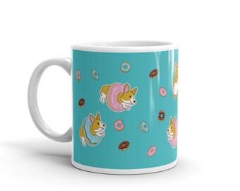 Donut Corgi Mug