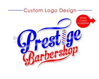 Barbershop Logo, Custom Logo, Logo Design, Logo Custom, Barber pole Logo, Logo, Business Logo, Shop Logo, Barber Shop Logo, Salon Branding