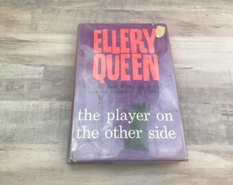 Ellery Queen - The Player On The Other Side - Random House - 1963 First Printing - Vintage Book - Rare Book - Mystery Book - Vintage
