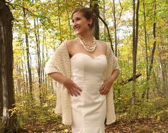 Bridal Shawl Victoria Wedding Shawl Shoulder Wrap Stole Bridal Shoulder Cover Wedding Jacket Ivory Evening Wrap Bridesmaids shawl