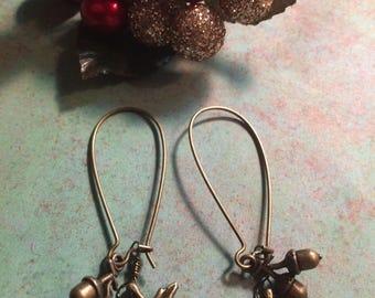 Acorn and Maple Leaf Earrings