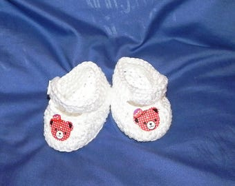 Baby shoes baby BOOTIES crochet cotton or wool neoborn