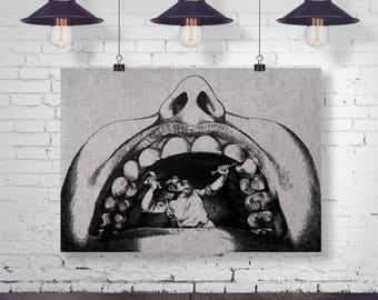 Dentist Humor Stone Art Print - Wall Art - Office Decor - Dentist Office Decor - Dental Art