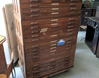 Hamilton Wooden Flat File