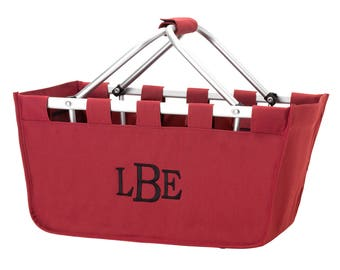 Monogrammed Market Totes/ Market Tote/ Personalized Market Tote