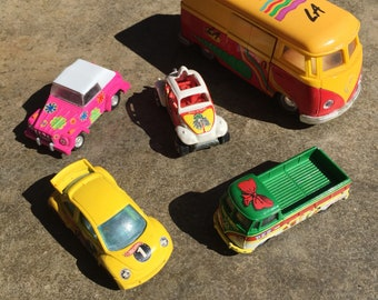 Little VW Toy Collection 5 Items