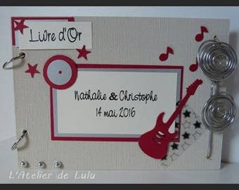 Rock Wedding guest book