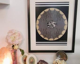 Ammonite & Samphire A3 Digital print
