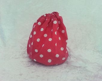"Toy bag or snack bag ""red, white peas"""