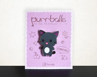 Purrballs Cat Enamel Pin - Konnyaku