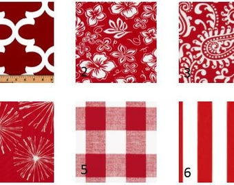 Red Window Valances-Window Treatments-You Choose Your Size and Pattern