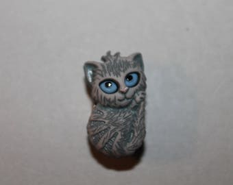button, fantasy, animal, grey cat.