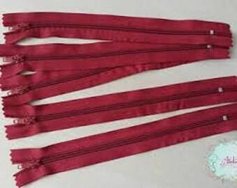 closure separble fine knit Burgundy 50cm
