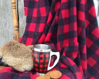 Plaid Buffalo red and black blanket!