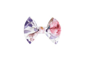 Mulberry floral bow, baby bow clip, baby clippie aligator, toddler headpiece bow, baby hair accessory