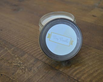 Handcrafted 4 oz Very Vanilla Soy Candle in Jelly Jar