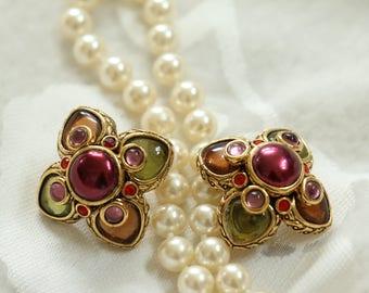 Vintage Joan Rivers Clip On Earrings