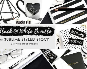 Styled stock photo bundle / 24 Styled Images / Stock Photos / Minimalist / Clean, Modern / Instagram / Social Media Images / Branding