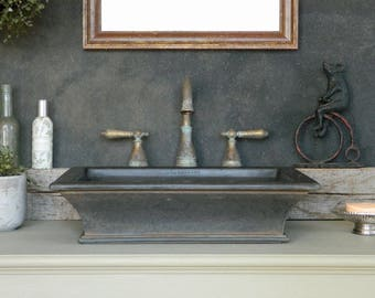Vessel Sink - Classical Shape with Cast Iron-Style Finish