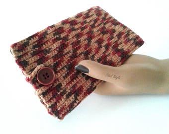 Cover storage case phone mobile smartphone multicolor hand made crochet, centerpiece, birthday gift idea.