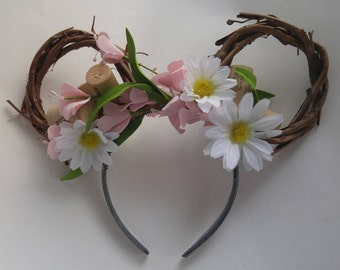 Country Bumpkin Floral Mickey Ears