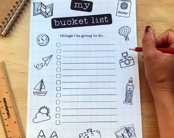 Bucket list | Printable Bucket list | Happy Planner | Travel Planner | Printable | A4 Organizer | Planner | To do List | Travel Inspiration
