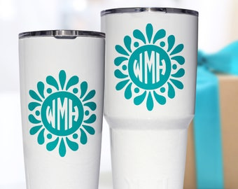 Yeti Decal - Monogram Decal - Yeti Tumbler Decal - Yeti Rambler Decal - Yeti Cup Decal - Yeti Monogram - Yeti Decal for Women - Droplet