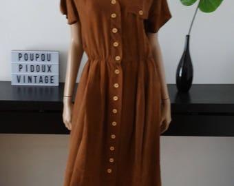 robe BETTY BARCLAY soie marron taille 40 / uk 12 / us 8