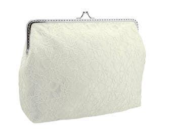 Wedding clutch bag, ivory clutch bag, lace clutch bag, clutch bag, bridal clutch, bridal clutch bag, lace clutch, ivory clutch, bride, 1450