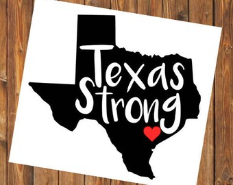 Hurricane Harvey, Houston Strong, Texas Strong, Red Cross Hurricane Relief, Charity, Donation, Flood Support, Yeti Tumbler/Car Window Decal
