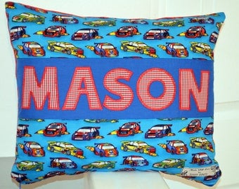 Personalised Cushion for Boy, Racing Car Cushion, Personalised Pillow for Boy, F1 Cushion, Pillow for Boys, Personalised Car Pillow, Baby
