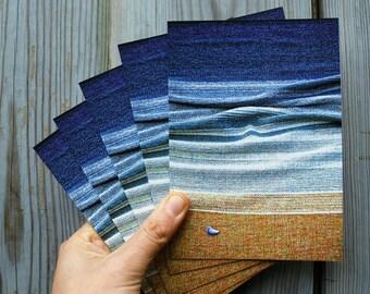Set of 6 Seascape postcards: handwoven blanket