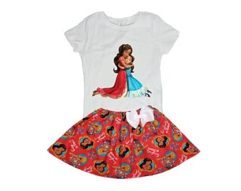 Girl outfit, Elena of Avalor girl outfit Isabel Elena girl outfit toddler birthday dress Girl birthday dress  baby  toddle Elena outfit Name