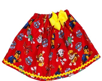 Paw Patrol girl  birthday Skirt, Marshall, Chase girl skirt Girl birthday skirt Girl Marshall Skirt, baby Skirt , Toddle skirt, Skirts