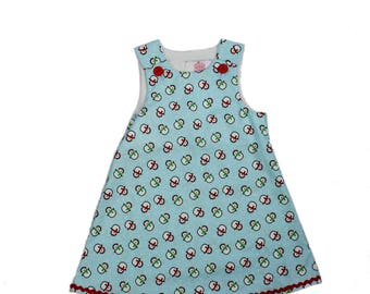 Girl Christmas dress baby dress A line girl dress applique baby fall dress girl aline dress  toddler aline  dress Girls Dress fall dress