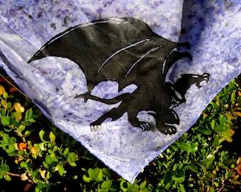 """Silk scarf """"Disney's Gargoyles"""" - Goliath"""