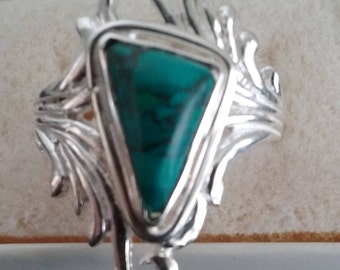 Chrysocolla Cast Ring