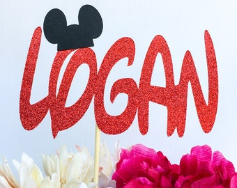 Mickey mouse cake topper | Mickey mouse party | Disney party | Cupcake toppers | Mickey Mouse Decor | First birthday decor