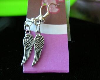 Earrings Tiny Sterling Silver Angel Wings
