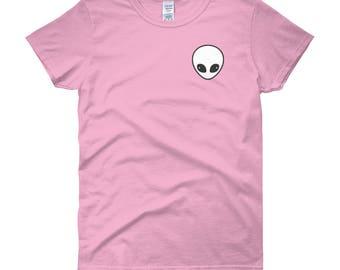 Alien Shirts | Pastel Goth Alien Head | Cute Clothes |  Soft Grunge Tops | Tumblr Tops | UFO T-Shirts