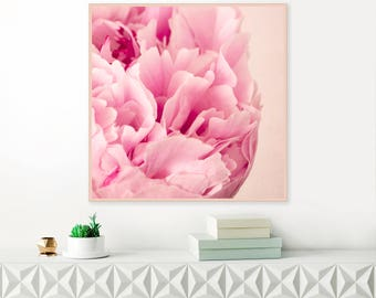 Peony Print, Abstract Peony Art, Still Life Peonies Wall Art, Flower Photography, Fine Art Giclee Print, Large Floral Art Print
