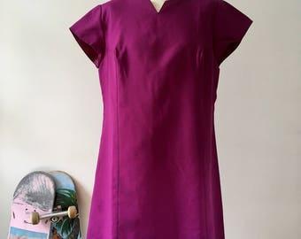 Purple Dress / Tailored / Party Dress / Plus Size / Summer