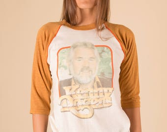 vtg '82 KENNY ROGERS us TOUR band tee 50/50