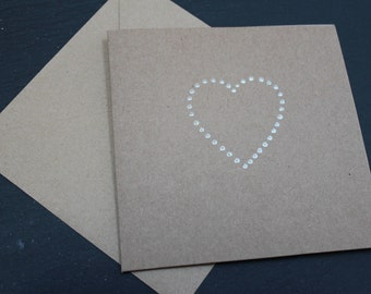 Valentine's Day Card HEART by Dotty Rainbow