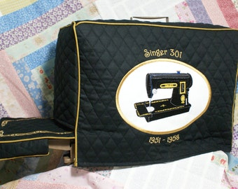 Singer 301 Sewing Machine Cover Set