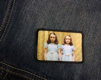 The Shining Twins Patch The Shining Patch Grady Twins Patch Horror Patch Iron On Patch Jacket Patch